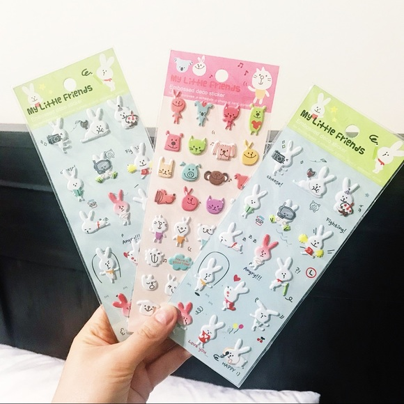 New My Little Friends Stickers For Planner Bunnies